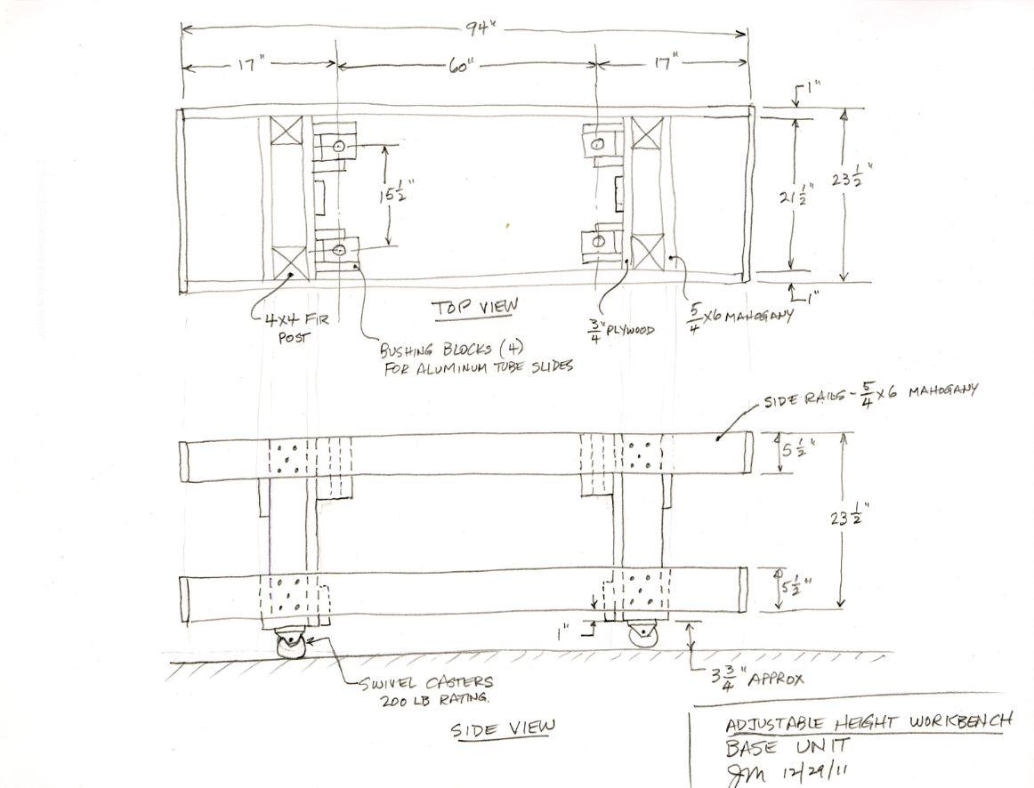 RC Plane Adjustable Workbench Plans
