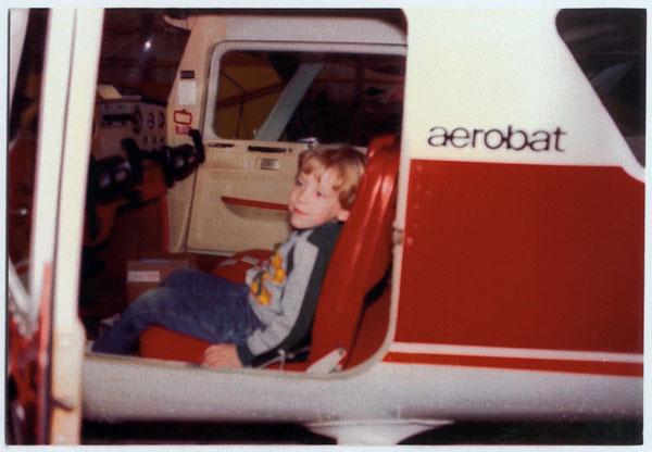 David in plane