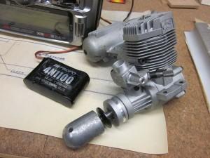 O.S. .75 2-stroke engineJR X9503 2.4GHz radio