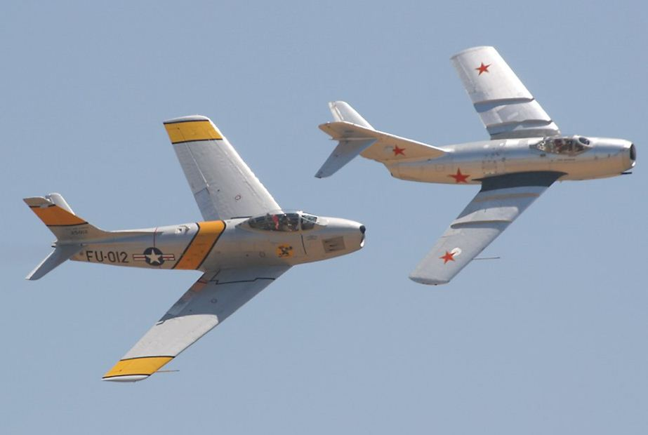 F-86 Sabre jet fighters