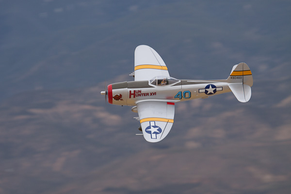Hangar 9 P-47D Thunderbolt 30cc flight video