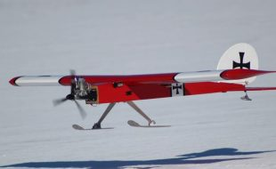 Wintertime Flying with Skis!
