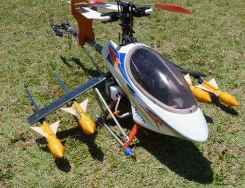 Rocket-firing helicopter