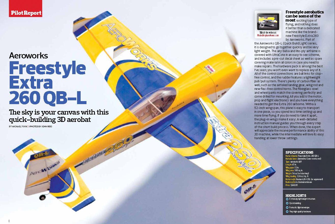 Sneak peek: Aeroworks Freestyle Extra 260 QB-L