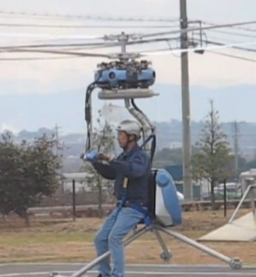 World's smallest man-carrying helicopter