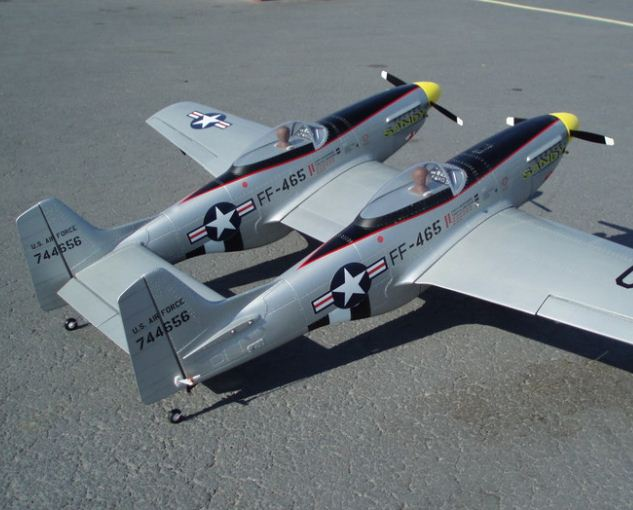 Turn Two Mustangs into an F-82