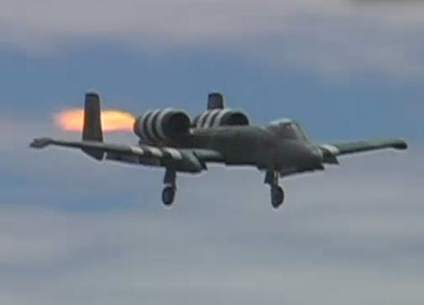Turbine jet catches on fire in flight!