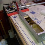 Fuselage cover in the 70's design, radio gear installed.