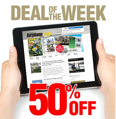 50% Off Deal Of The Week: Model Airplane News Membership Site – 1 Year