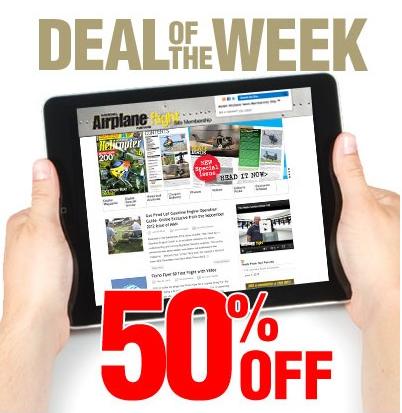 50% Off Deal Of The Week: Model Airplane News Membership Site – 1 Year