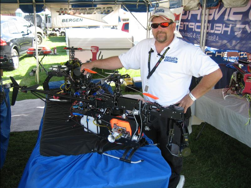 Bergen R/C Helicopters for Commercial Camera Operation