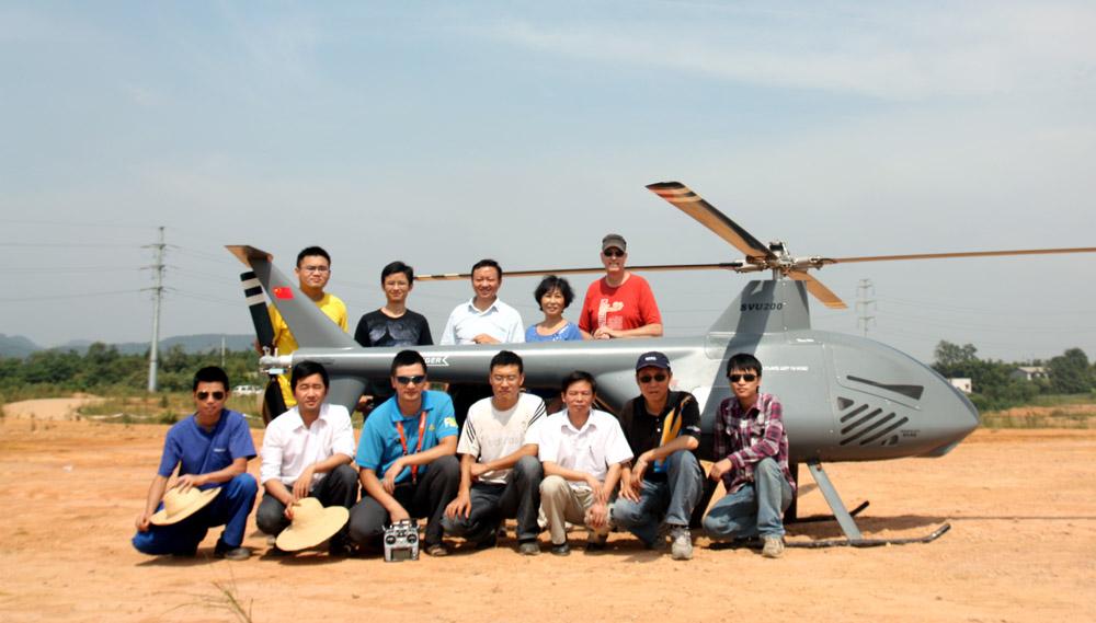SVU-200 UAV Heli's First Flights