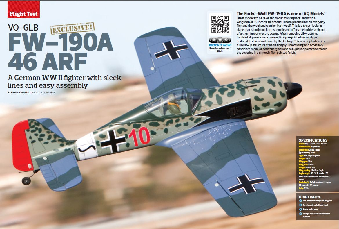 VQ Models Focke Wulf Fw-190 [VIDEO]