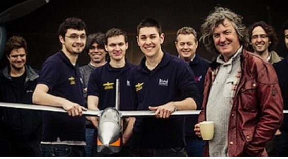 Flight Club: James May sets records with a balsa plane