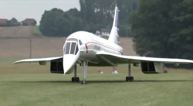 Supersonic Scale Rc Concorde Model Airplane News