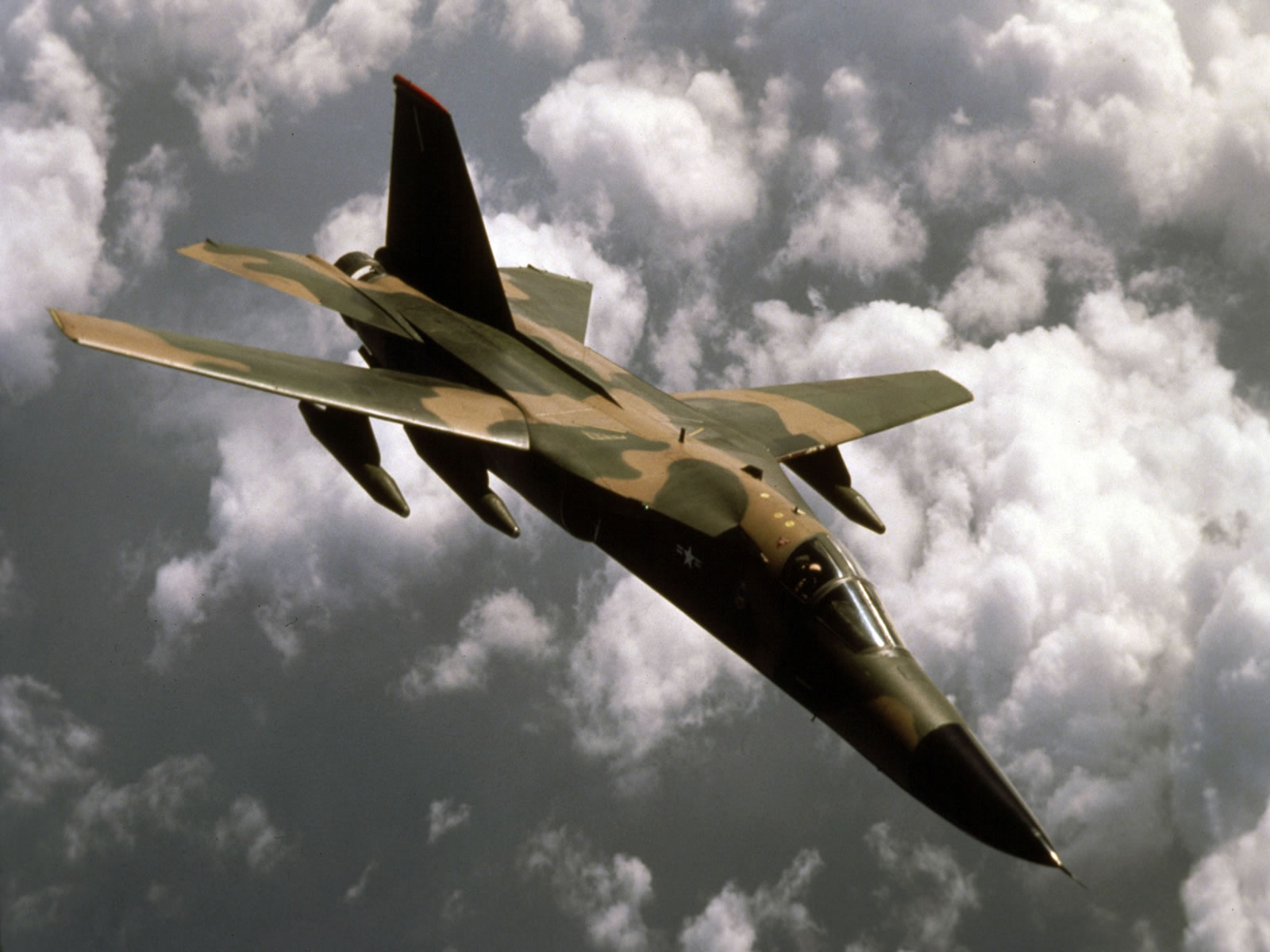 Belly landing of an Australian F-111