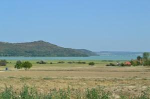 The landscape of Örvényes lakeside