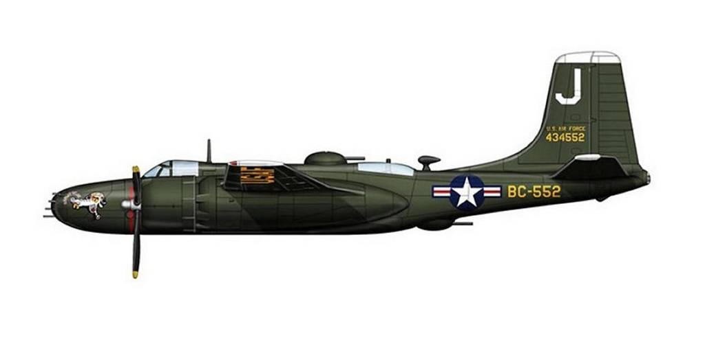 A-26 Invader, brown nose