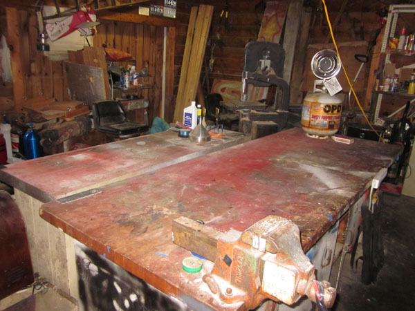 Nothing so sad as an empty workshop bench!!!
