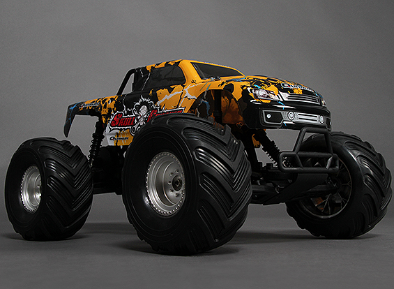 Skull Crusher Monster Truck with two lipos.
