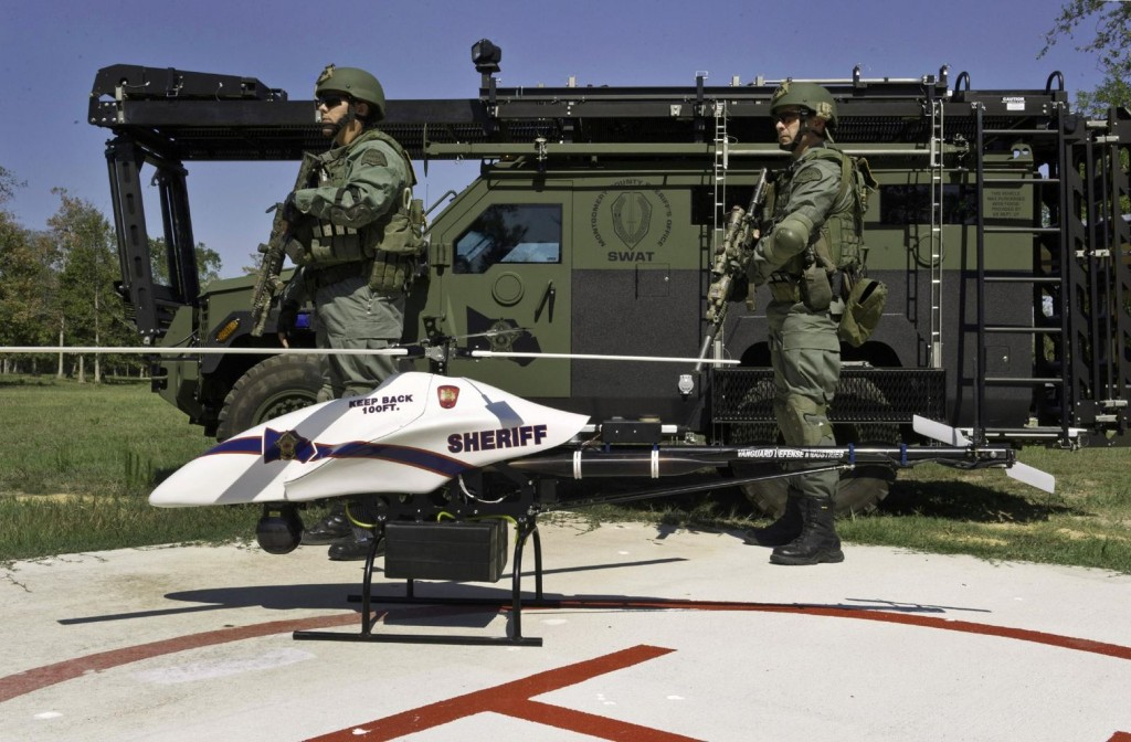 ShadowHawk drone with Montgomery County, Texas, SWAT team