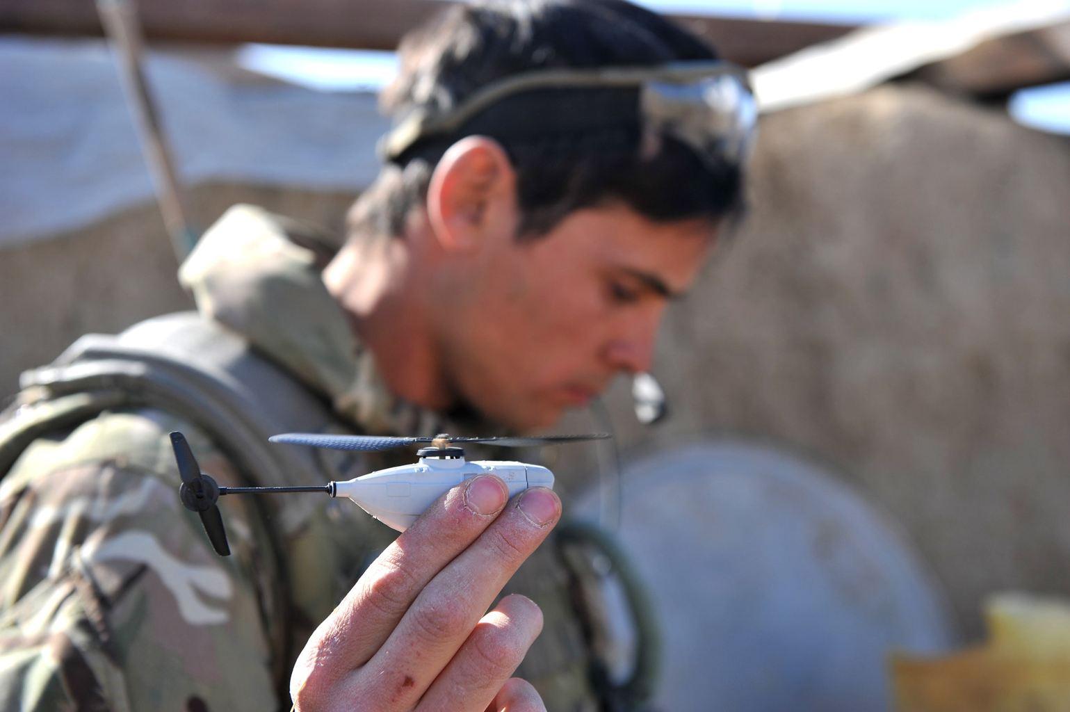 British Soldiers in Afghanistan deploy Micro UAV Helis