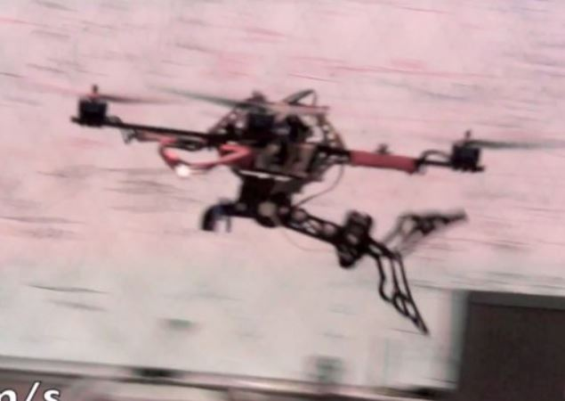 "Micro UAV that plays ""catch""!"