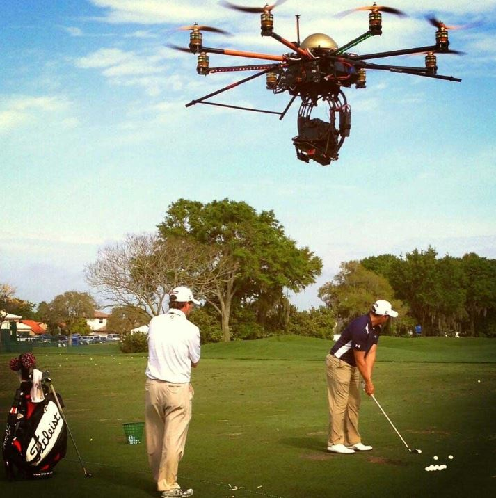 The Golf Channel's Octocopter