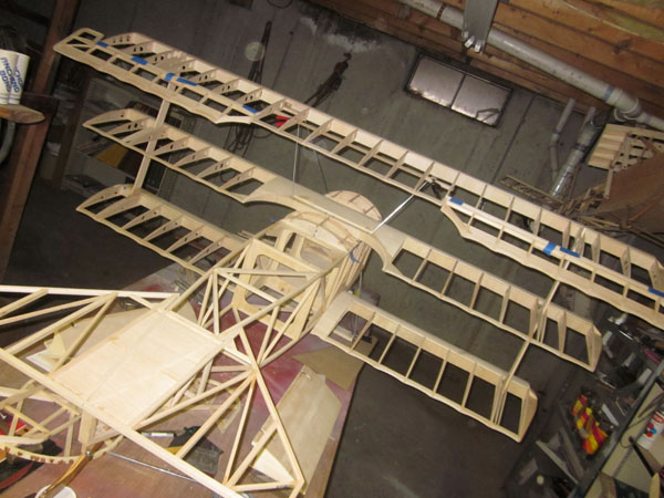 Giant Scale Triplane Build-Along — Cabanes Struts