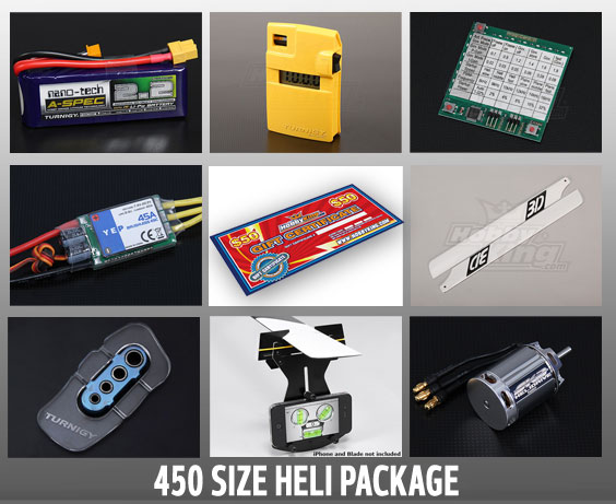 450 Size Heli Package