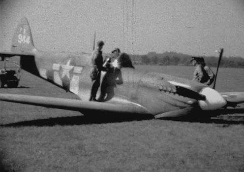 WW II pilot sees footage of his Spitfire crash-landing!