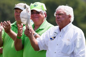 Triple Tree Visionary Pat Hartness accepts thank you from hundreds of spectators