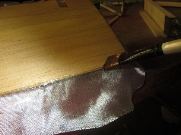 Applying Fiberglass Cloth — Finishing model parts