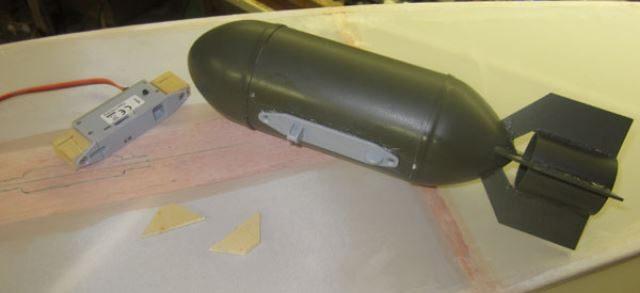 Model Airplane Bomb Drop Mechanism