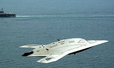 X-47B carrier landing video!