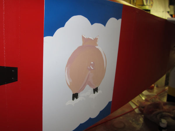 Hand-Painted Scale Details -- When Pigs Fly!