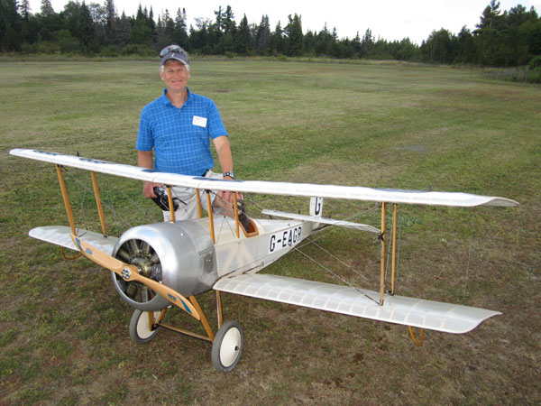 Brian Perkins and his 35% scale Bristol Scout Model-D