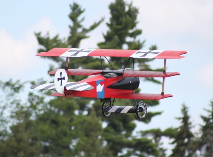 My Triplane on a flyby