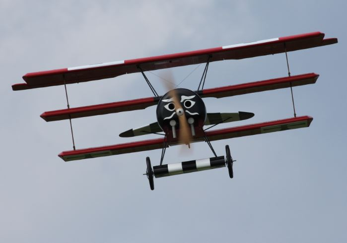Giant Scale Triplane Test Flight Video