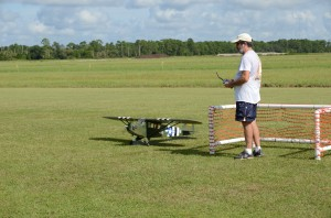Robert Trinchitella taxies his L-4 back from a mission.