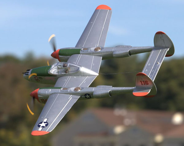 Test Flying the new P-38 from Flyzone