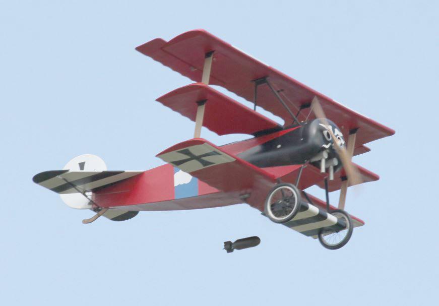 My Balsa USA 1/3-scale Fokker Triplane