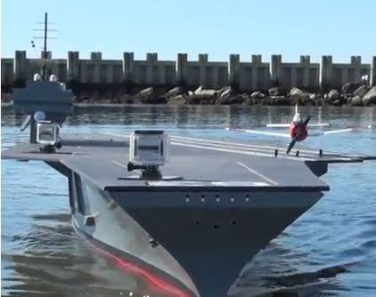 RC Aircraft Carrier Launches T-28