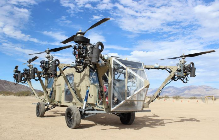 It's a truck … it's an octocopter … it's the Black Knight Transformer!