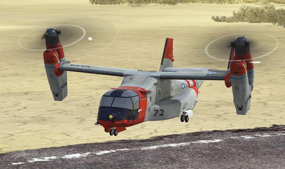 RealFlight 7, the Osprey Tilt-Rotor