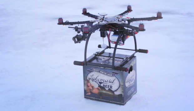 Lakemaid Beer Tests Drone Delivery