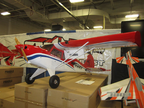 A new sport scale bush plane called the Big Foot in the 3D Hobby booth