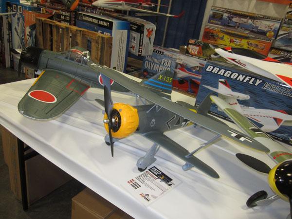 Zero and HS 173 Biplane