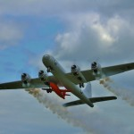 Mac Hodges GIANT B-29 re-enacts General Chuck Yeager's historic flight in the Bell X-1 part of Top Gun noontime show.