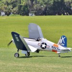 Ray Labonte's Corsair folds wings after another flight in Pro-Am Prop class.